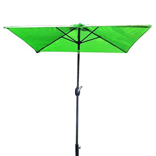 ERLAN Parasol Jardin Verde Cuadrado Sombrilla para Patio con Ajuste de Inclinación de 60 °, Sombrilla de Mercado Al Aire Libre para Patio Trasero Terraza Hotel, Marquesina de Poliéster