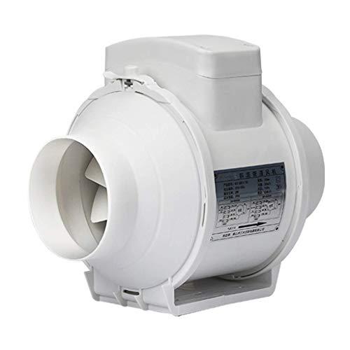 Ventilador extractor de baño, ventilador de cocina de 4 pulgadas de conducto en línea circular circular oblicua flujo sobrealimentado de alta potencia V