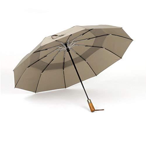 ZXC Home Draagbare Dubbellaags Waterdichte Zonnescherm Regenachtig Zonnig Regenachtige Dag Dual-use Automatische Schakelaar Zonneparaplu