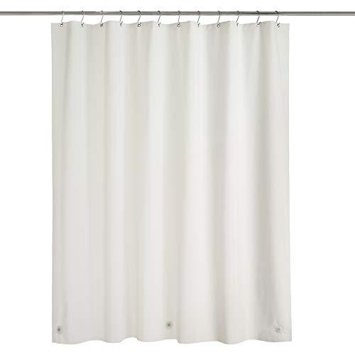 Amazon Basics – PEVA-Duschvorhang mittelschwer, Elfenbein, 183 x 183 cm