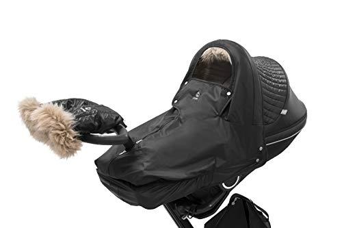 STOKKE® Winter Kit für Kinderwagen - Kinderwagen-Winterzubehör mit Handschuhen - Farbe: Schwarz
