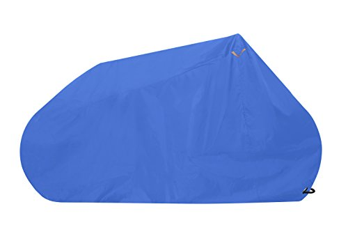 Goose Bicycle Cover Premium Grade Lockable Bike Cover - Heavy Duty 210D Waterproof Oxford Fabric - The Ultimate Cycle Protection - Black and Blue - Various, Including Twin/Double