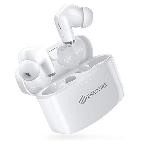 ENACFIRE E90 Auriculares inalámbricos Bluetooth V5.0, TWS Auriculares Deportivos, 8 Horas de reproducción, Control tactil, Calidad de Sonido HD, Micrófonos duales y IPX8 a Prueba de Agua