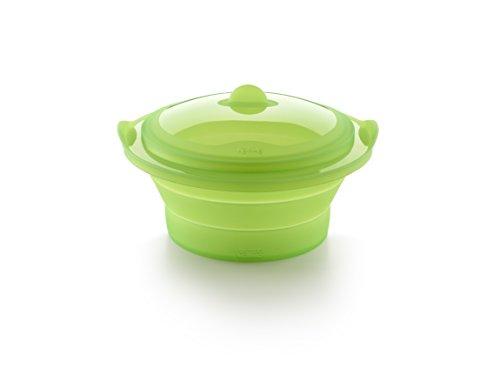 Lékué Vaporera Verde, Silicona, 24 cm