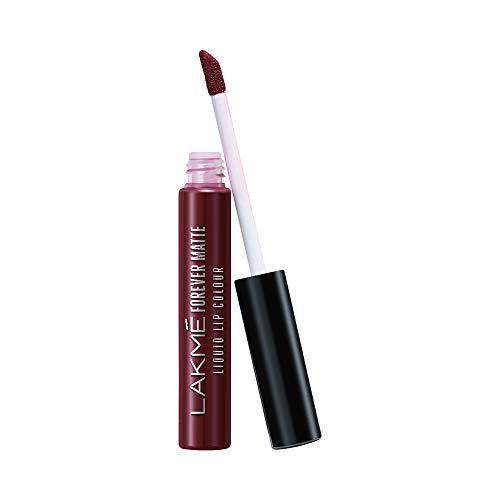 Lakmé Forever Matte Liquid Lip Colour, Wine Touch, 5.6 ml