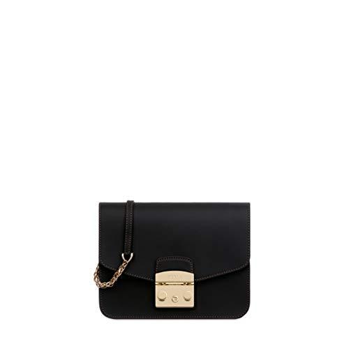 Furla Metropolis Ladies Small Black Onyx Leather Crossbody 941945