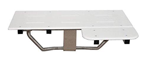 Brey-Krause ADA L-Shaped Reversible Shower Seat – White Poly Top
