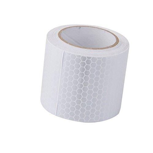 Kentop Ruban Ruban Adhésif Bricolage Décoratif Adhésif Autocollants Paper Bande Ruban réfléchissant Film réfléchissant en treillis de cristal adhésif blanc Papeterie Cadeau Scolaire Couleurs aléatoires 5 cm * 3 m 1PCS