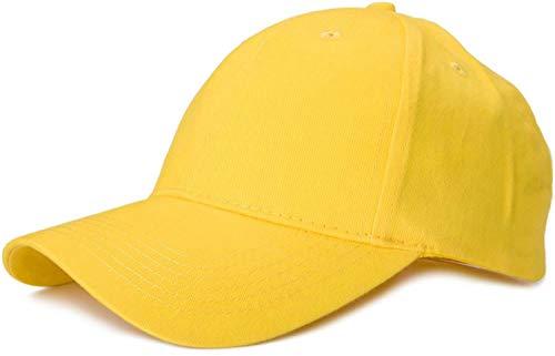 styleBREAKER Gorra clásica de 6 Paneles con Superficie cepillada, Gorra de béisbol, Ajustable, Unisex 04023018, Color:Amarillo