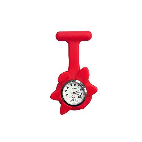 Enfermera reloj Reloj De Enfermera Reloj De Bolsillo Broche Silicona Orgánica Respetuoso...