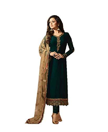 ziya Fashionable Designer Straight Salwar Kameez LT Nitya 2201-2208 (Green, 2X-52)