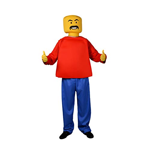 Morph MCCUOBLOK1 - Mr Block Head Erwachsene verrücktes Kleid Kostume