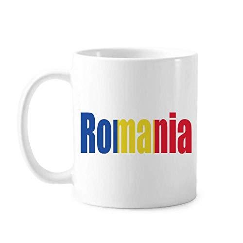 Rumänien Länderflagge Namenstasse Keramik Kaffee Porzellan Tasse Geschirr