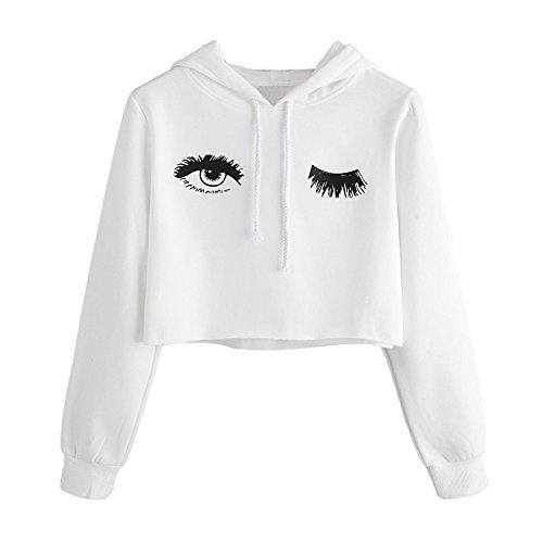 Sweat à Capuche Femmes,Covermason Femmes Hoodie Sweatshirt Oeil Imprimé à Manches Longues Sweat-Shirt Pullover Tops Blouse