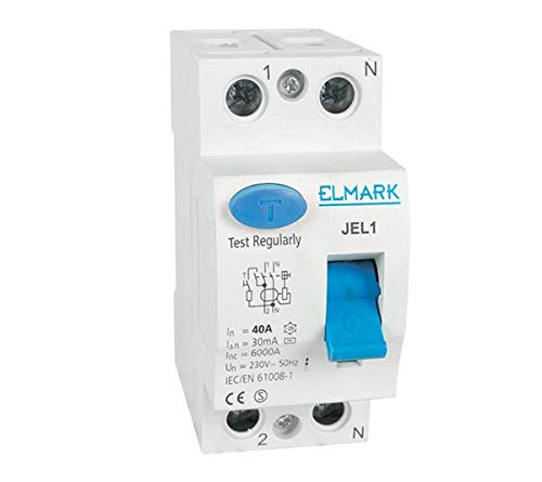 Interruptor diferencial puro JEL1 2 polos 16 A 6 KA 30 mA