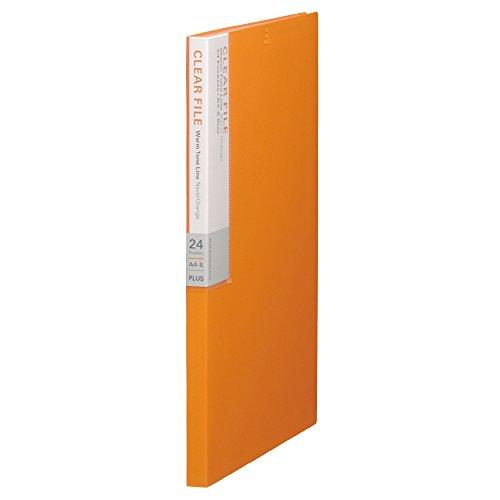 プラス クリアファイル A4縦 24ポケット デジャヴ 89-606 ネーブルオレンジ