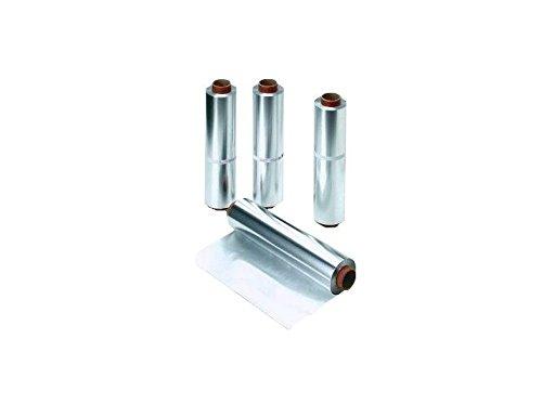 4 rotoli di pellicola in alluminio 100 m 60 cm 18 my extra forte pellicola di alluminio