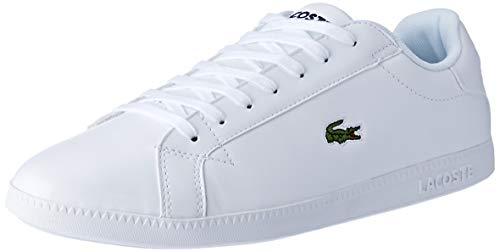 Lacoste Mens Graduate BL 1 SMA Sneaker, Weiß (White/White), 42 EU