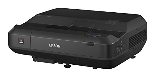 Epson Home Cinema LS100 3LCD Ultra Short-Throw Projector, Digital Laser Display with Full HD and 100% Color Brightness (Renewed) (V11H879520-N)