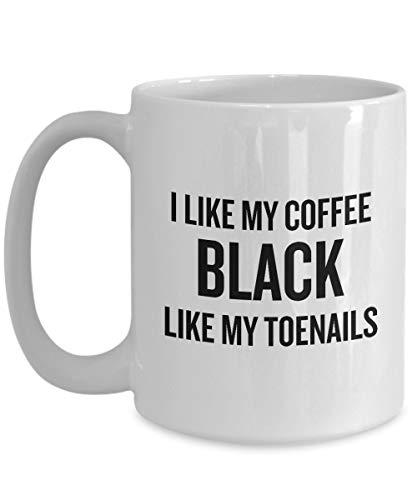 Funny Running Coffee Mug - Runner Gift Idea - Funny Present For Runner - Black Like My Toenails