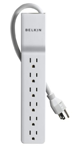 Belkin 6-Outlet Home and Office Power Strip Surge Protector, 4ft Cord