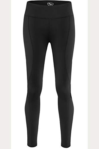 NOOYME (Newest 2018) Women's Cycling Tights Workout Legging Pants Running Pants (S, Jet Black)