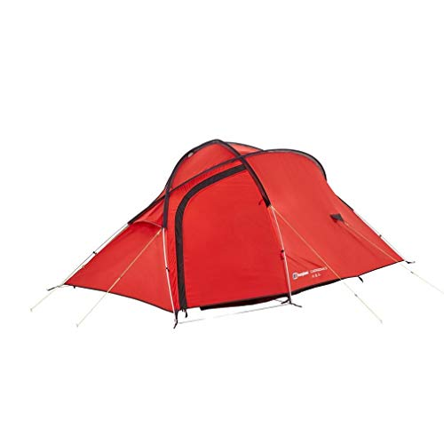 Berghaus Cairngorm Lightweight Compact 3 Person Tent, Red, One Size