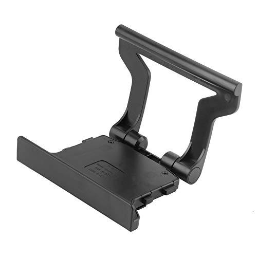 Uso durable plástico negro clip TV abrazadera montaje soporte soporte soporte adecuado para Microsoft Xbox 360 Kinect sensor