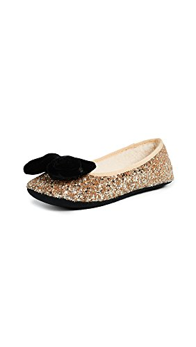 Kate Spade New York Frauen Sussex Ballerinas, Flach Gold Groesse 5 US /35.5 EU