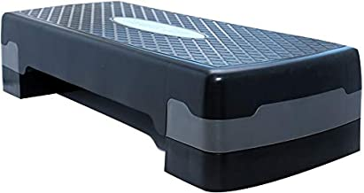 Pro Solid Single Aerobic Stepper, Black and Gray