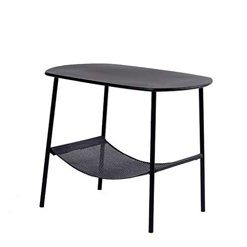 WXL Small Coffee Table Nordic Coffee Table Modern Minimalist Small Apartment Living Room Small Square Table Magazine Table Bedside Table End Tables (Color : Black)