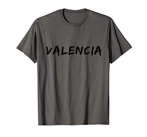 Valencia Negro Vintage Font Hombres Y Mujeres Camiseta