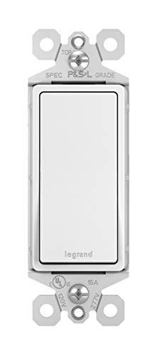 Legrand radiant 15 Amp Rocker Wall Switch, Decorator Light Switches, White, 3-Way, TM873WCC10