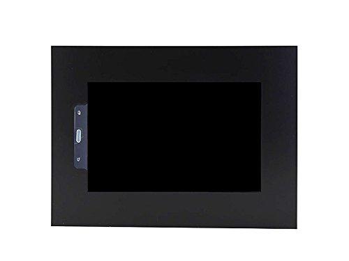 TabLines TWE051QB beschermende behuizing voor Samsung Tab A, 26 cm (10,1 inch) in liggend formaat met homebutton zwart