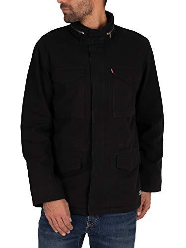 Levi's Sherpa Field Coat Chaqueta, Black (Black 05157 0001), Medium para Hombre