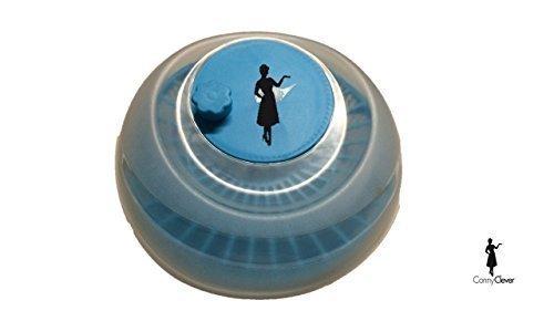 Conny Clever Salatschleuder mit Kurbel, blau/weiß
