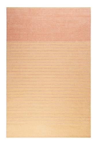 Esprit Home I Moderno tappeto a pelo corto Kelim in lana e cotone – Passatoia per soggiorno, corridoio, camera da letto I Waves Kelim I ESP-6205 I, lana., arancione e rosa., 80 x 150 cm