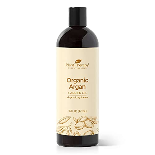 Plant Therapy Organic Argan Oil, USDA Certified, First-Press, Virgin, For Face, Hair, Skin, Nails and Cuticles 16 oz