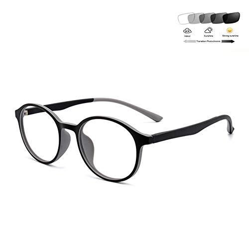 HQMGLASSES Multifocal Progressive Sun Lesebrille, Photochromie Sonnenbrillen Prebyopia Brille Aspherical Objektiv Eyewear / UV400 Dioptrien +1,0-+3,0,04,+2.5