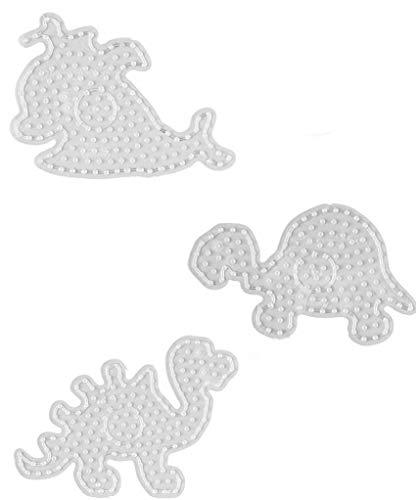 Hama Maxi Perlen - Beutel mit Stiftplatte 8209 Wal , 8210 Schildkröte und 8215 Dino