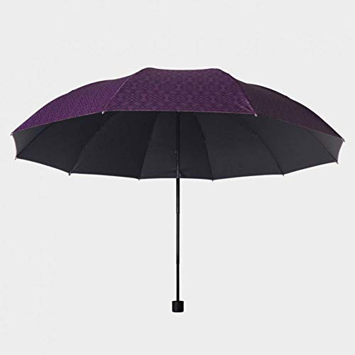 XCWQ Paraplu, rode automatische man-paraplu 3Fold houten handvat coating, 10 K, winddicht, grote storm-paraplu