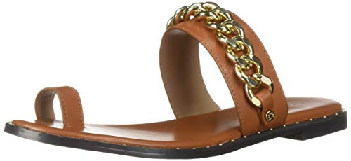 BCBG Generation Women's Zola Toe Ring Sandal Flat, Camel, 6.5 M US