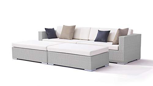 talfa Garten Lounge Polyrattan Daybed Dreamcatcher in Grau satiniert - Dreamcatcher