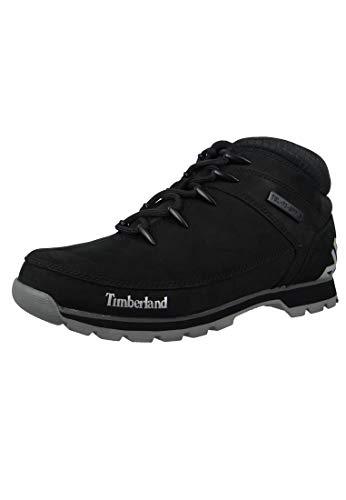 Timberland Euro Sprint Hiker, Botas para Hombre, Negro Black Nubuck, 42 EU