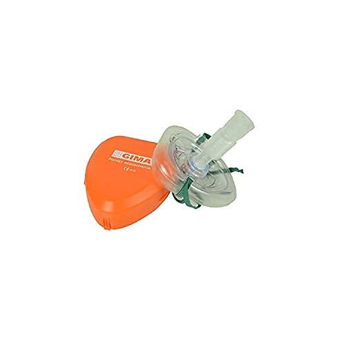 GIMA - Pocket Mask, Maschera di Rianimazione per Respirazione Bocca a Bocca, CPR Mask Resuscitator