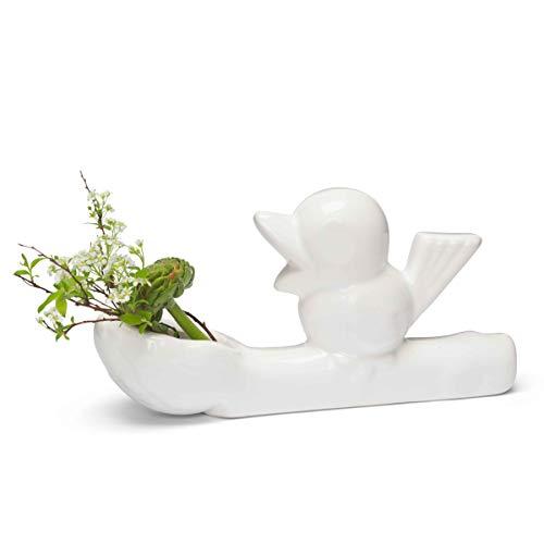 Jasmin Djerzic Flower Thief-White kleine vaas, keramiek, 7,5 x 14 x 3,5 cm