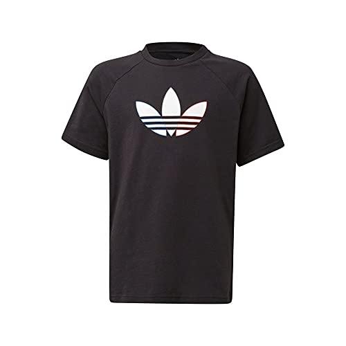 adidas GN7434 Tee T-Shirt Unisex - Bambini Black 1112