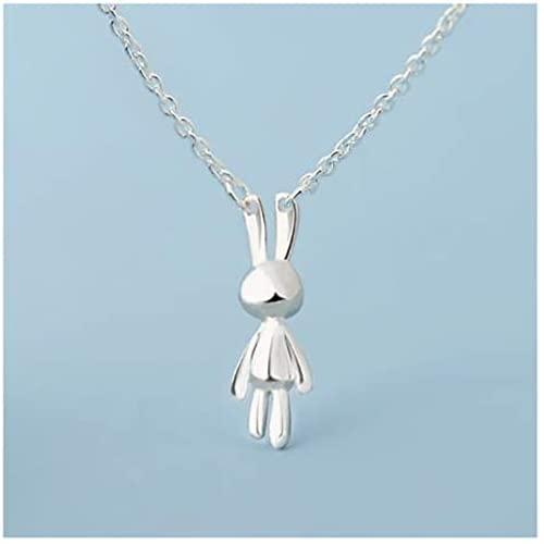 Wideocean Collar Femenino 925 Sterling Silver Clavícula Cadena de clavícula Diseño ecológico Cuello de Cuello del día de la Vida del Amor