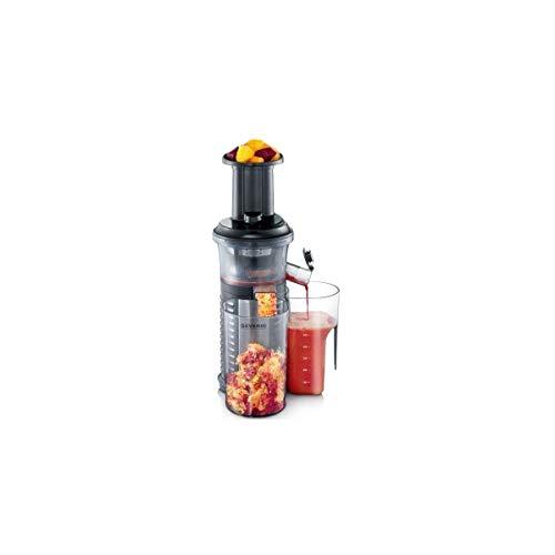 SEVERIN ES 3569 Slow Juicer (150 W, incl. Frozen-fruit-opzetstuk) zwart/roestvrij staal