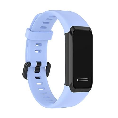 Compatible con Huawei Band 4 correas, repuesto de silicona para Huawei Band 4 Smart Band Fitness Actividades Tracker (azul claro)